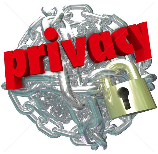 Privacy Chain Link Ball Lock Chain Private Secure Information Stock photo © iqoncept