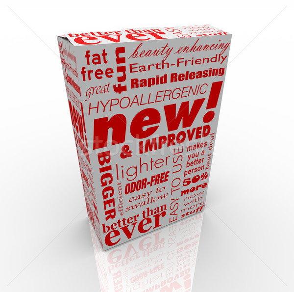Product Box - New and Improved Stock photo © iqoncept