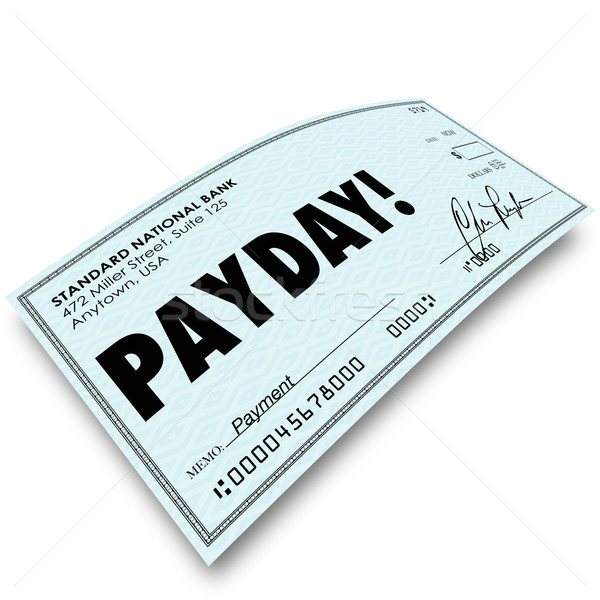 Payday Check Money Payment Earnings Work Compensation Stock photo © iqoncept