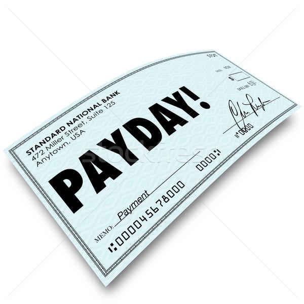 Kontrol para ödeme kazanç çalışmak Stok fotoğraf © iqoncept