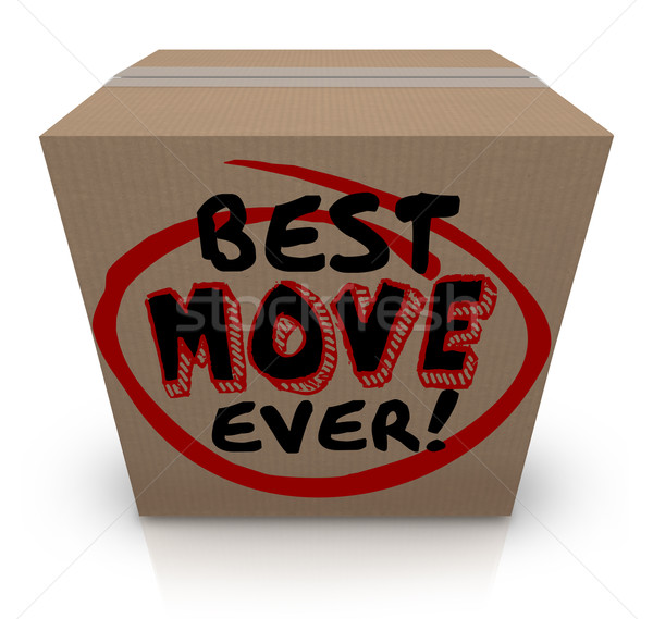 Best Move Ever Packing Cardboard Box Moving New Home Stock photo © iqoncept