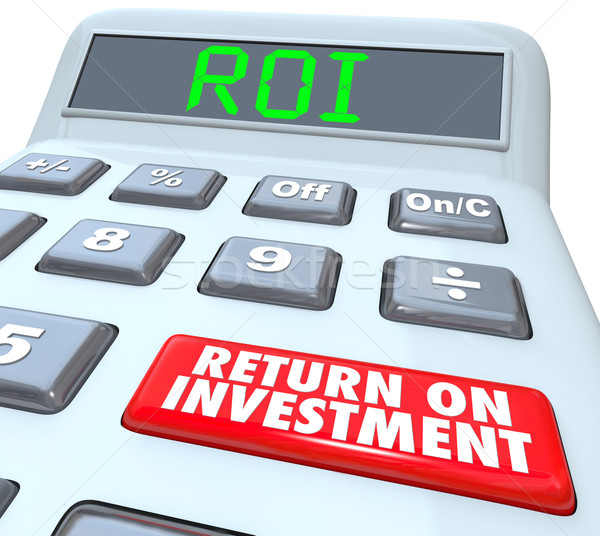 Return on Investment ROI Calculator Button Words Stock photo © iqoncept