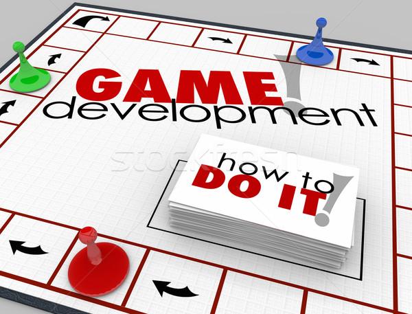 Játék fejlesztés társasjáték tanul szoftver app Stock fotó © iqoncept