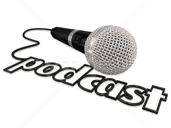 Podcast Cord Microphone Communication Sharing Opinion Informatio Stock photo © iqoncept