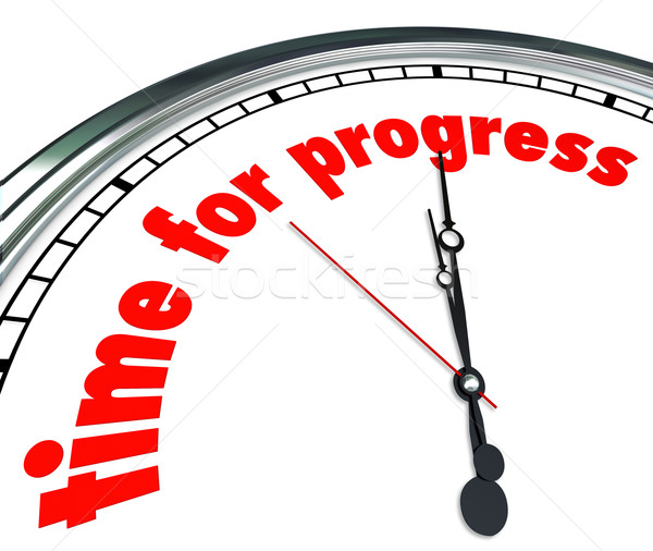 Time for Progress Clock Forward Movement Innovation Stock photo © iqoncept