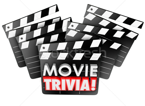 Movie Trivia Film Studio Clapper Boards Game Test Quiz Stock photo © iqoncept