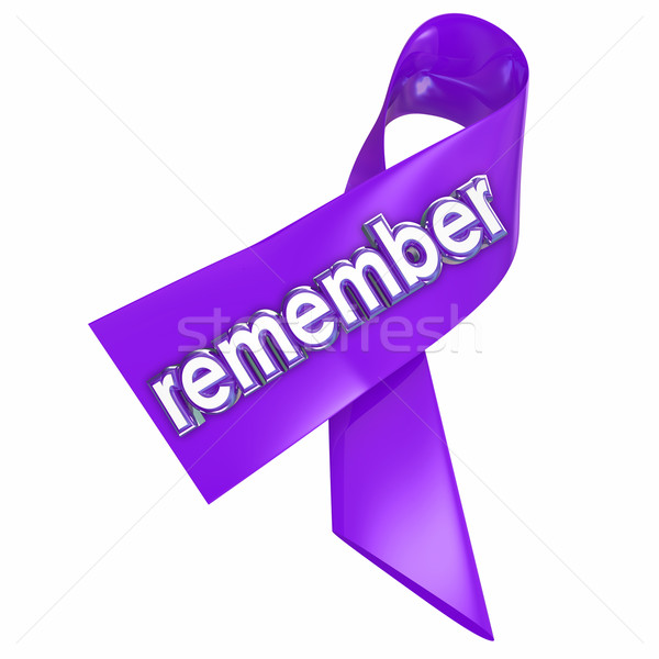 Remember Ribbon Memory Fallen Victims Deceased Awareness Campaig Stock photo © iqoncept