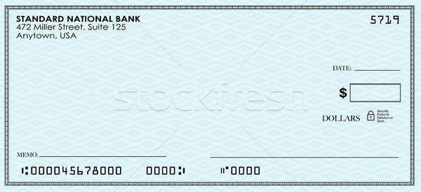 Comprobar dinero pago banco cuenta enviar Foto stock © iqoncept