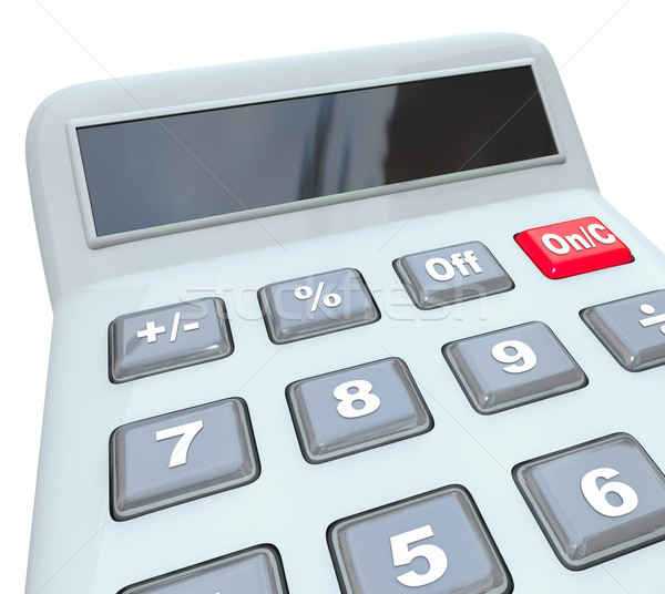 Calculator Learn Math Problem Add Subtract Multiply Numbers Blan Stock photo © iqoncept