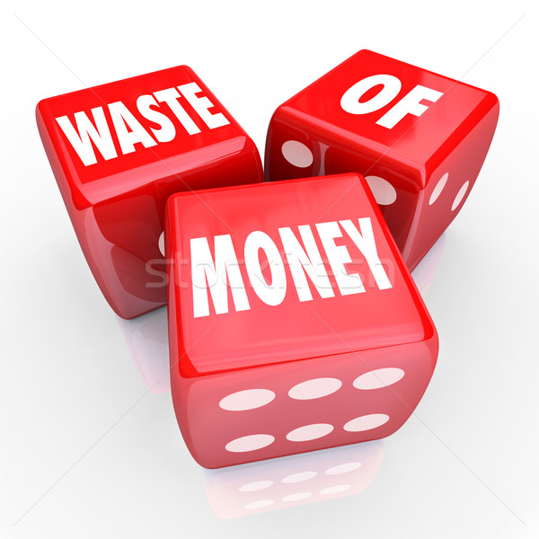 Waste of Money 3 Red Dice Wasteful Spending  Stock photo © iqoncept