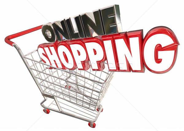 Online Shopping Cart Buy Products Internet Digital 3d Illustrati Stock photo © iqoncept