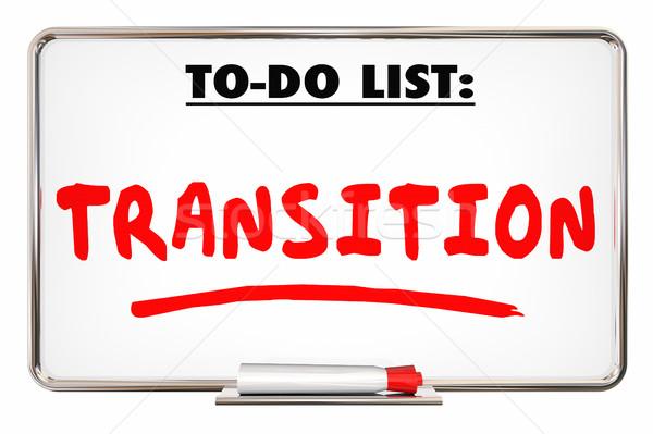 Transizione per fare la lista nuovo cambiare direzione illustrazione 3d Foto d'archivio © iqoncept
