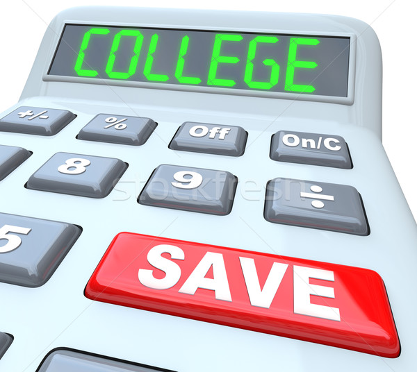 Save for College - Calculator for Education Savings Investment Stock photo © iqoncept