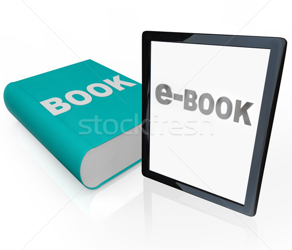 Print Book and e-Book - Traditional vs Modern Reading Stock photo © iqoncept