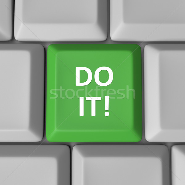 Do It Green Computer Keyboard Key Encouragement Words Stock photo © iqoncept