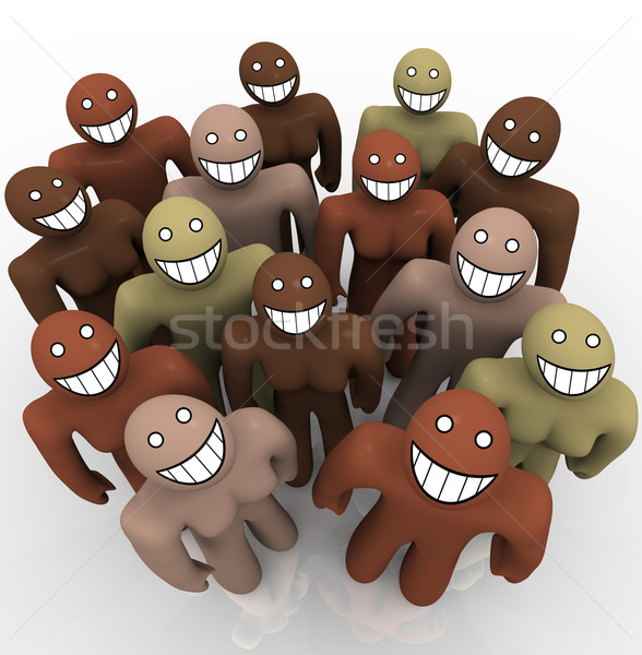Diverse Group of People - Smiling Faces Stock photo © iqoncept