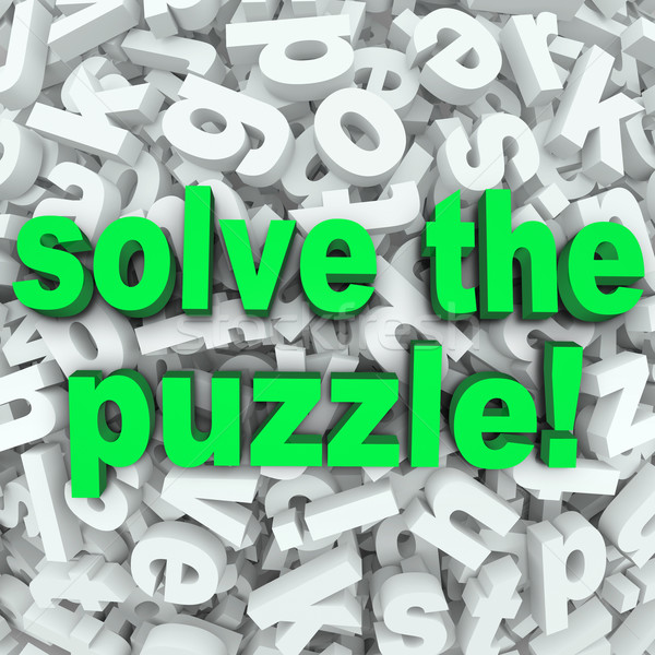 Solve The Puzzle Word Search Jumble Difficult Letter Challenge Stock photo © iqoncept
