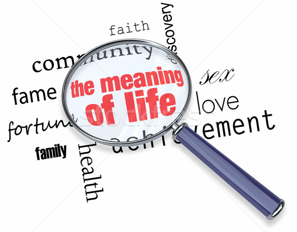 Searching for the Meaning of Life - Magnifying Glass Stock photo © iqoncept
