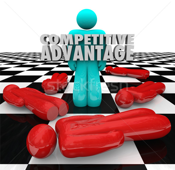 Competitive Advantage People Winner Stands Alone Stock photo © iqoncept