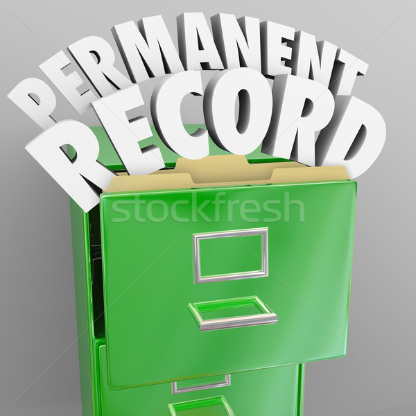 Permanent Record Filing Cabinet Personal Files Stock photo © iqoncept