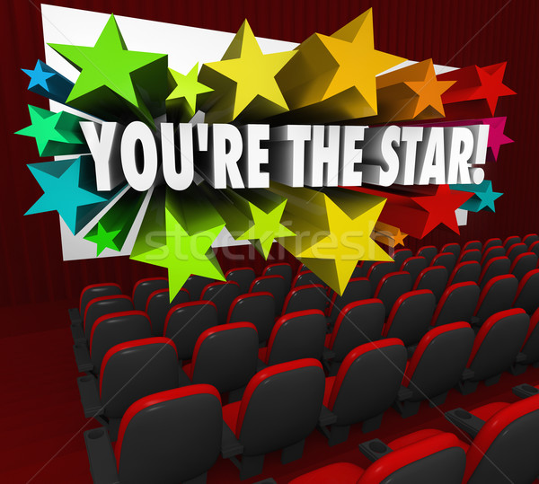 You're the Star Movie Theatre Screen Film Acting Stock photo © iqoncept