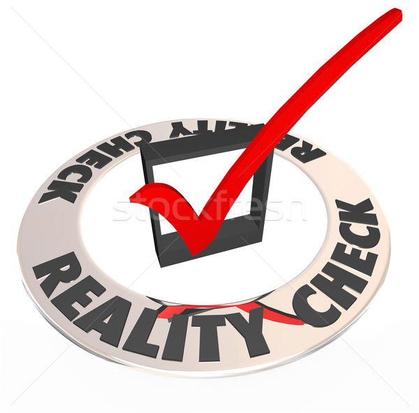 Reality Check Mark Box Realistic Potential Possibility Stock photo © iqoncept