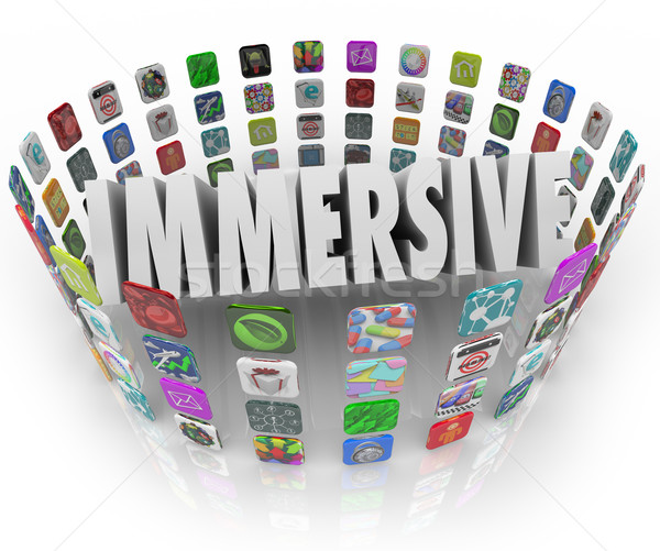 Immersive Word App Software Program Application Icons Stock photo © iqoncept