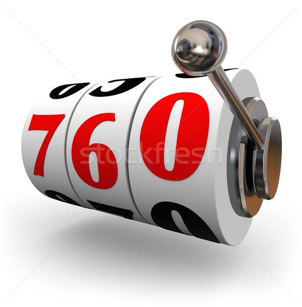Crédit score roues magnifique nombre Photo stock © iqoncept