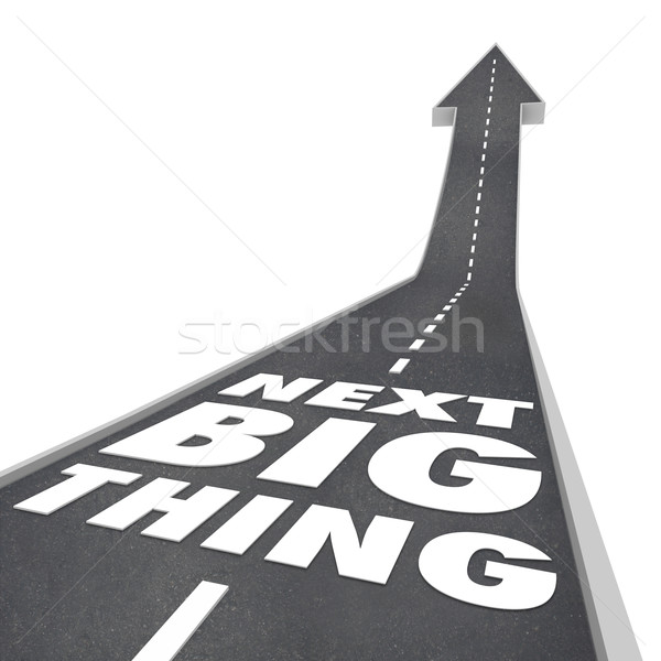 Next Big Thing Road Arrow Predicting Future Trends Fads Stock photo © iqoncept