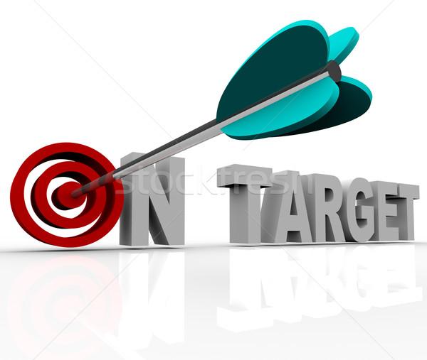 On Target - Arrow on Bulls-Eye Stock photo © iqoncept