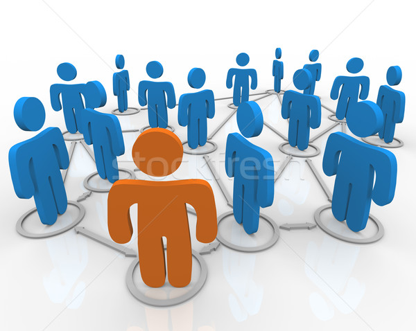 Social Network of Linked People Stock photo © iqoncept