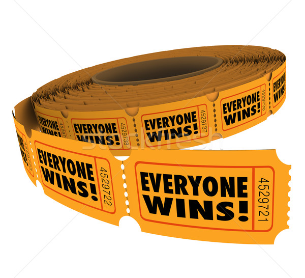 Everyone Wins Fundraiser Raffle Ticket Roll Spread Victory WInne Stock photo © iqoncept