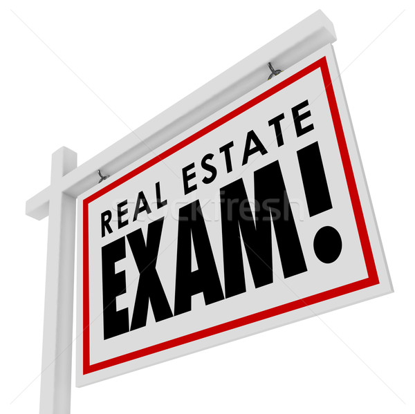 Real Estate Exam Test Agent License Study Pass Final Home Sale S Stock photo © iqoncept