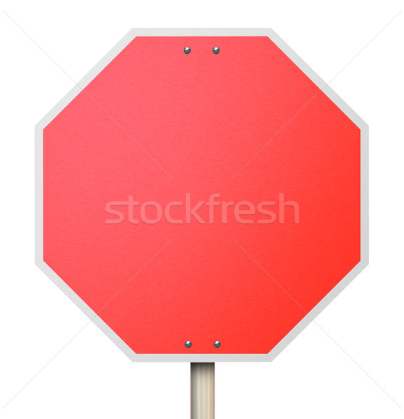 Stop Red Road Sign 3d Background Blank Copy Space Stock photo © iqoncept