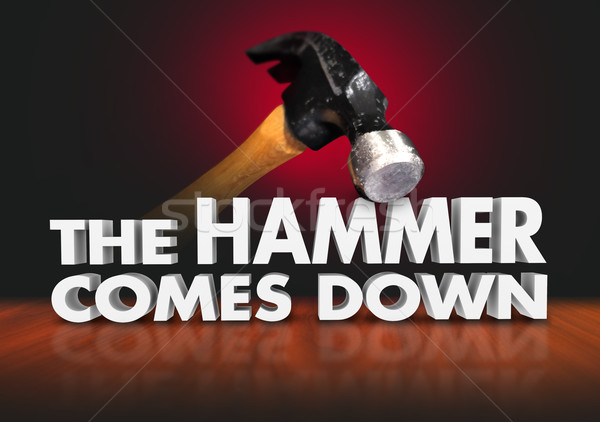 The Hammer Comes Down Moment Judgment Decisive Force Stock photo © iqoncept