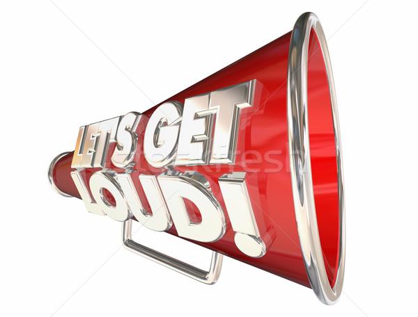 Lets Get Loud Applause Volume Audience Bullhorn Megaphone Stock photo © iqoncept