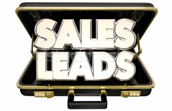 Sales Leads New Selling Prospects Customers Briefcase 3d Words Stock photo © iqoncept