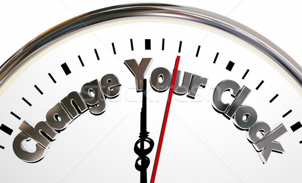 Stock photo: Change Your Clocks Turn Hands Back Forward Time 3d Illustration