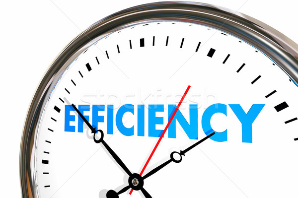Efficiency Productivity Clock Word Work Results 3d Illustration Stock photo © iqoncept