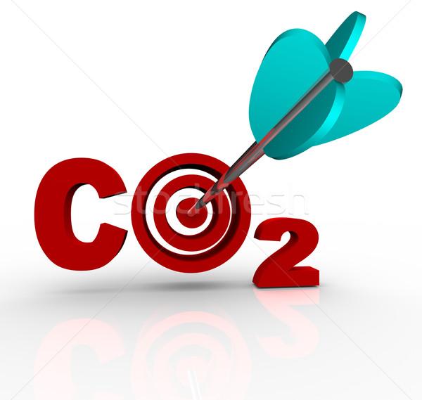 CO2 Carbon Dioxide Emission Reduction Target and Goal Stock photo © iqoncept