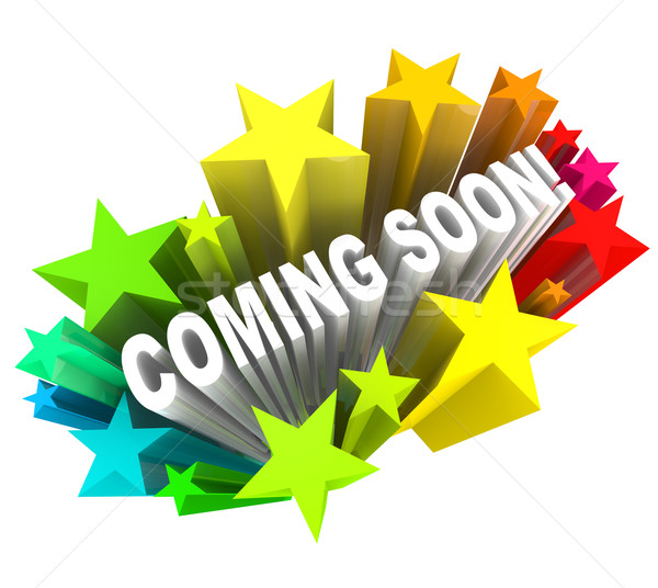 Coming Soon Announcement of New Product or Store Opening Stock photo © iqoncept