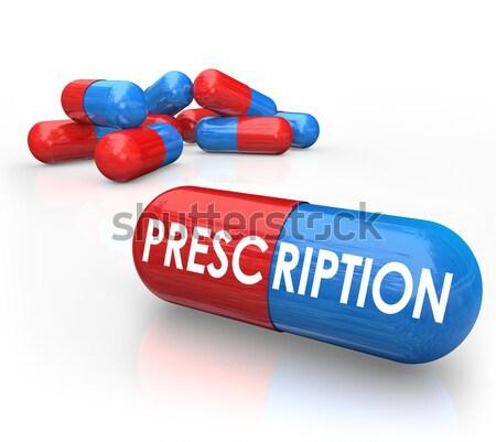 Generic Capsule Pills - No Name Brand Medicine Stock photo © iqoncept