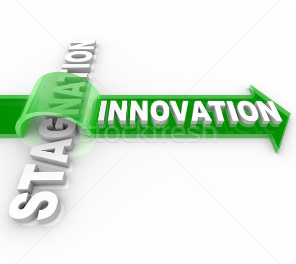 Innovation vs Stagnation - Creative Change Versus Status Quo Stock photo © iqoncept