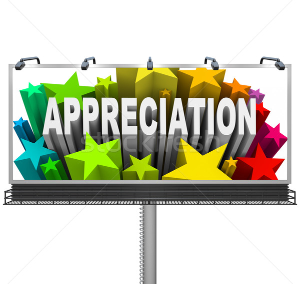 Appreciation Billboard Recognition of Good Work Stock photo © iqoncept