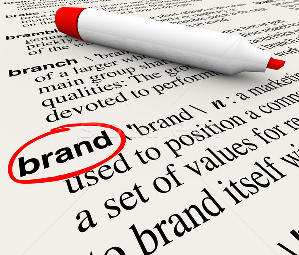 Brand Definition Word Dictionary Marketing Awareness Stock photo © iqoncept