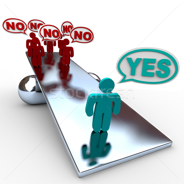 Yes Answer Outweighs No Answers in Balance Stock photo © iqoncept
