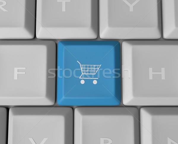 Shopping Cart Keyboard Button Stock photo © iqoncept