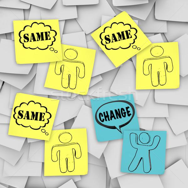 Change Vs Same - Sticky Notes Stock photo © iqoncept