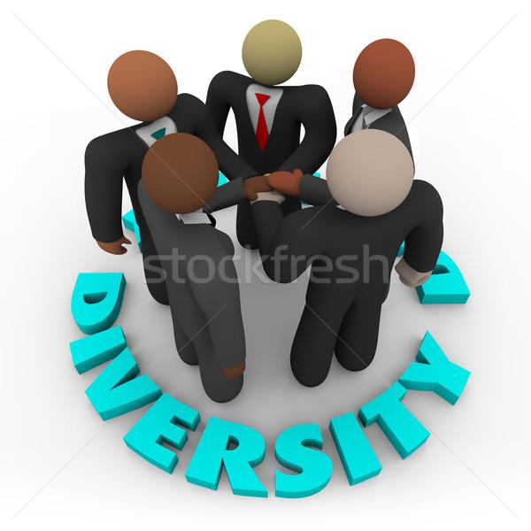 Foto stock: Diversidade · equipe · de · negócios · homens · mulheres · diverso · negócio