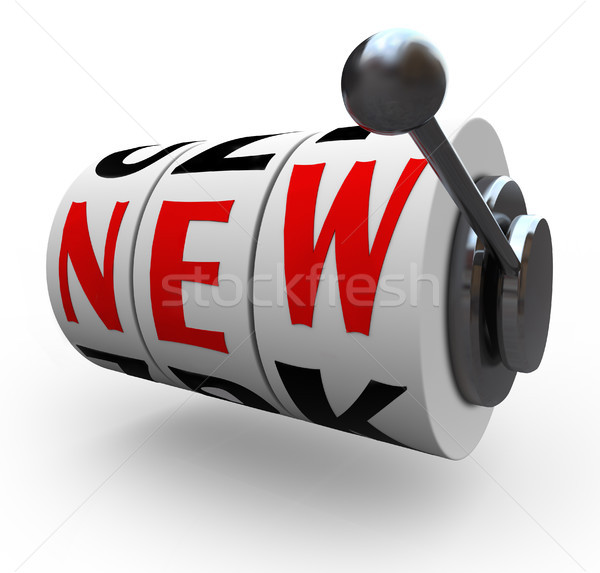 New Word Slot Machine Wheels Innovation Change Stock photo © iqoncept